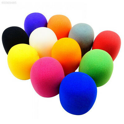 06E7 10Pcs Multi color Handheld Stage Microphone Windscreen Foam Mic Cover Karao