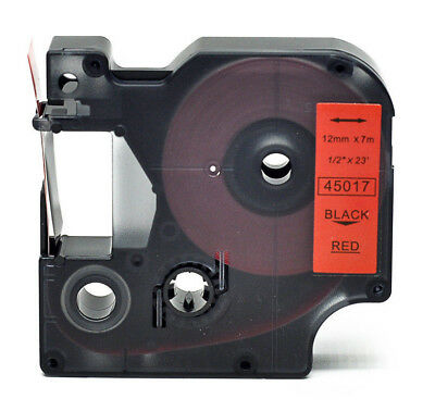 Label Tape 45017 Black on Red DYMO D1 LabelManager LabelPoint Compatible 12mm