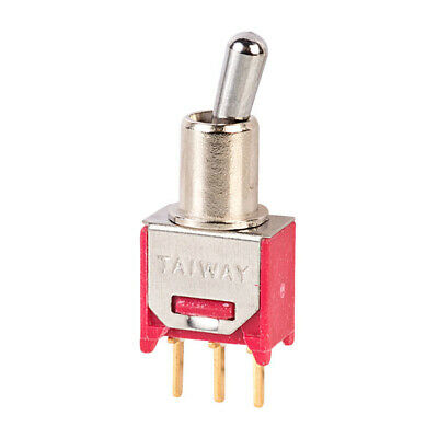 Micro Miniature Toggle Switch SPDT Vertical PCB 400mA at 20VDC