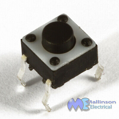 Micro Tactle Switch Push to Make (SPNO) 4 leg (Pack of 10)