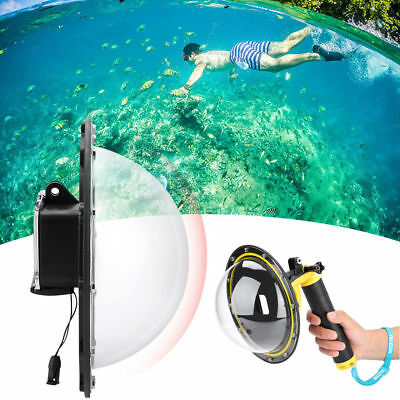 TELESIN Dome Port Diving Waterproof Housing Case for Gopro Hero 5/6/7 Cameras