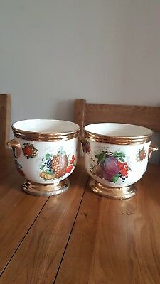 Pair Of Quality Earthenwear Staffordshire Plant Pots