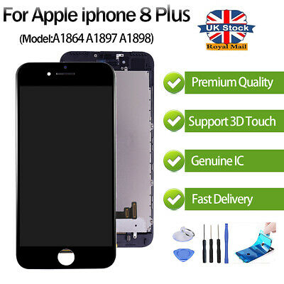 For iPhone 8 Plus LCD Screen Display Replacement Digitizer Black - OEM 3D Touch