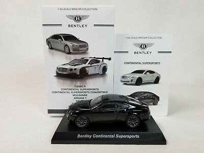 1:64 Kyosho Bentley Minicar Collection Continental GT Supersports W12 2009 Black