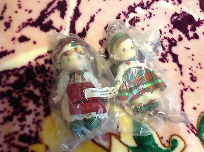 Precious moments dolls LIttle Holly and Christmas Carol