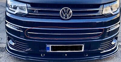 VW T5.1 Chrome Styling Front Bumper Trim Strip Lower Grill. FREE POSTAGE.