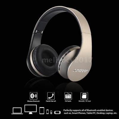 4in1 Foldable Stereo Bluetooth Headphones Wireless Headset Mic MP3 FM TF SD Slot