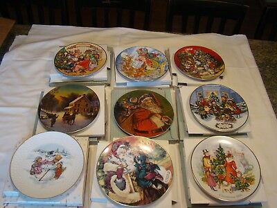 Vintage Avon Christmas Collector's Plates Lot of 9 1986-94
