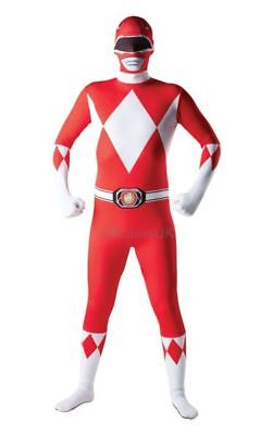 Adult Licensed Power Rangers Red Ranger Mens Fancy Dress Costume Party Outfit