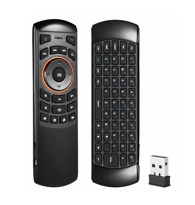 Universal TV Remote Control- w/QWERTY Keyboard & 6 Axis Air Mouse- Android / PC