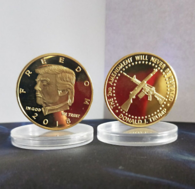 2018 US President Donald Trump Gold Plated Commemorative Coins Golden plated