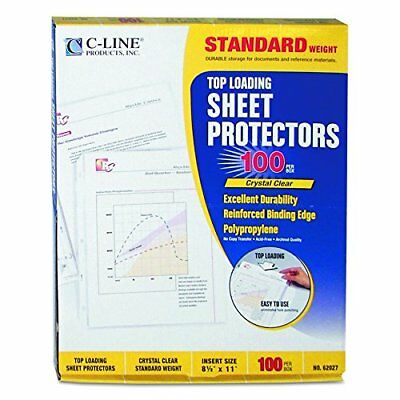 100 PACK C-Line Top Load Clear Protectors Sheet 8.5 X 11. Paper Document Letter
