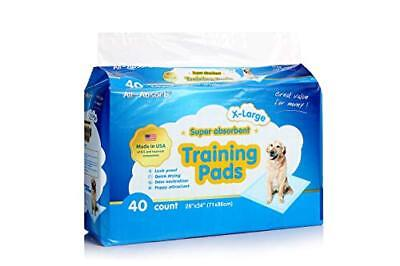 All Absorb 40 Count Training Pads Dog Puppy Pet Pee Wee Absorbent 28x34 X-Large