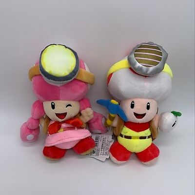 2X Super Mario Captain Toad Toadette Plush Soft Toy Treasure Tracker Teddy 8""