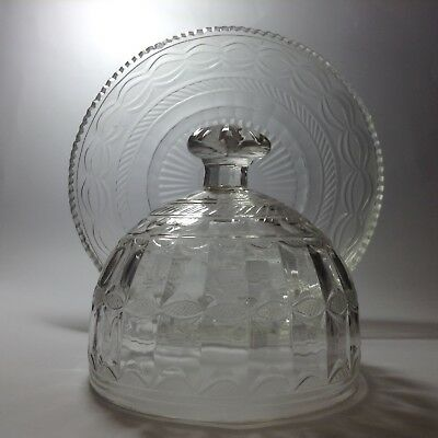 Antique Cut Crystal Covered Cheese Dish