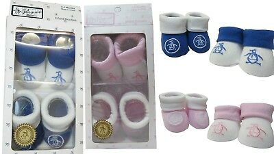 Penguin Baby Infant Slip On Sock Booties Gift Boxed 2 Pairs 0-6 Months