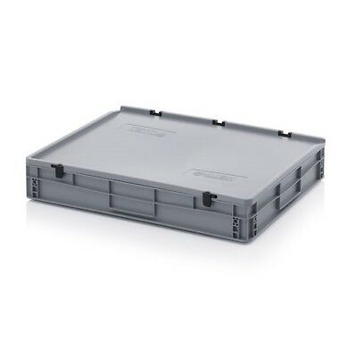 Euro Containers 80x60x13, 5 with Lid Stacking Lagerbox Stapelbox 800x600x135