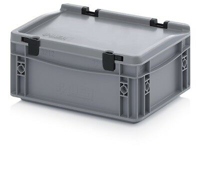 Plastic Container 30x20x13, 5 Plastic Containers Plastic Crate Transport Box Lid