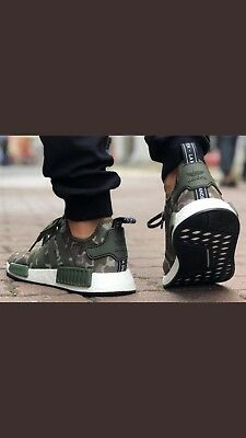Adidas Nmd R1 Boost Duck Camo Sesame Green New In Box Men S 11