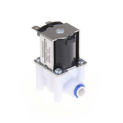 """Electric Water Valve 24V DC Solenoid Valve 1/4"""" Hose Connection RO Controller FB"""