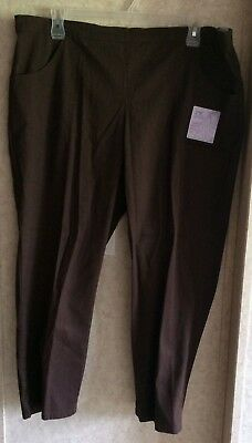 361b4bf8906 Just My Size Womens Ankle Pants Pull On Stretch New Petite Plus Size 3X 22W  24W