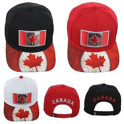 Baseball Cap CANADA Flag Canadian Hat Casual Solid Snapback Hats Fashion Caps