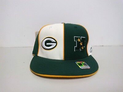 Reebok Vintage Green Bay Packers Nfl Fitted Hat Cap Green White Men Sz 7- 8 206f36077