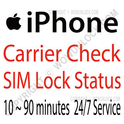 Apple Official iPhone IMEI Network Carrier Checker / SIM Lock Status Fast