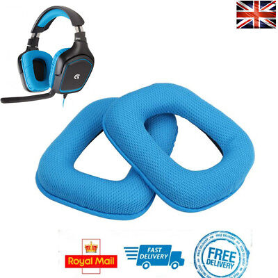 x2 Replacement Ear Pads BLUE For Logitech G430 G930 G35 F450 Foam Cushion Cups