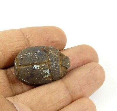 RARE Ancient Egyptian Scarab Beetle Good Luck and Evil Protection Amulet #SC2