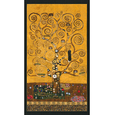 "Robert Kaufman Gustav Klimt Tree of Life, Stoclet Frieze 24"" Panel"