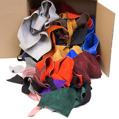 Springfield Leather Co. 6 Pound Colorful Assorted Suede Scraps Remnants