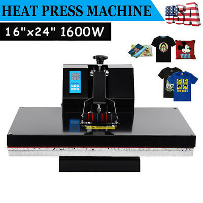 16x24 Clamshell Heat Press Machine Sublimation Transfer T-shirt Print LCD Timer