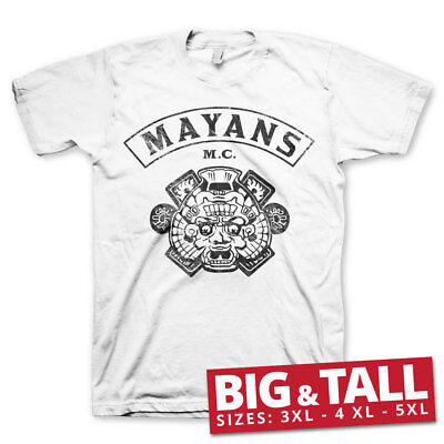 Official Licensed Mayans M.C. Kutte Men's Big Tall 3xl,4xl,5xl T-Shirt (White)