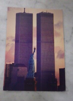 Alma World Trade Center Twin Towers Postcard New York City Statue of Liberty