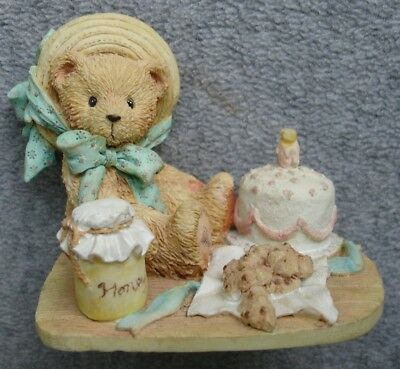 "Cherished Teddies Birthday Figurine Anna ""Hooray For You"" 1991"