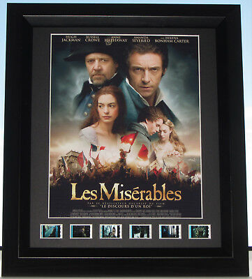 """les Miserables""  Film Cells Framed Film Mounted Musical Classic"