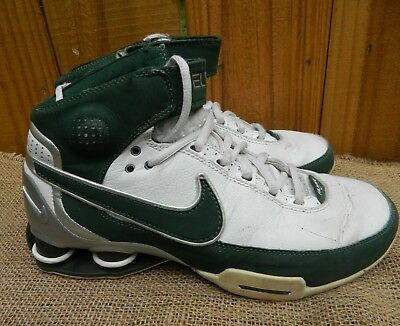 best service bd4d2 535c6 Nike Shox Elite Family Basketball Shoes Green Silver Black Size 6 316904-131