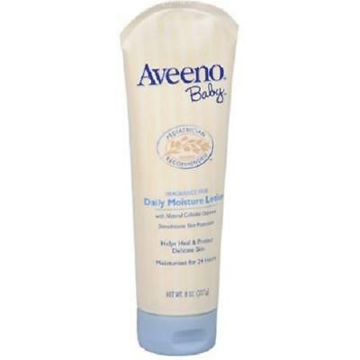 AVEENO Baby Fragrance Free Daily Moisture Lotion 8 oz Pack of 4
