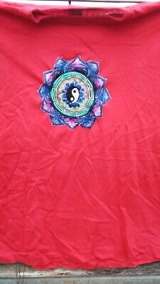 Grateful dead parking lot yin yang embroiderd t shirt new vintage napal large