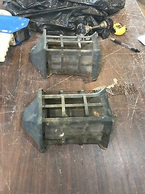 Match Pair antiqueCopper or brass exterior wall sconce body 11.75 x 8
