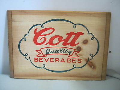 Vintage Cott Quality Beverages Wood Panel Crate Box Side (never assembled)