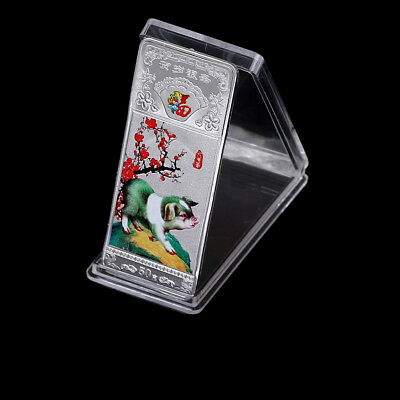 Year of the Pig Souvenir Coin Silver Plated Commemorative Medal Tourism Gifts-HQ