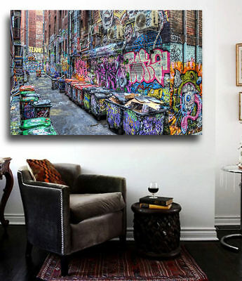 Five Pointz NYC Graffiti Street Art 24 x 20 Ready to Hang - Mounted Stretched