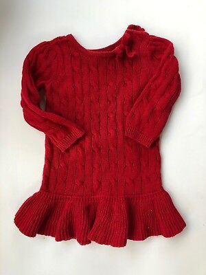 dedb2ad55acf BABY GAP GIRLS Ivory Cable Knit Sweater Dress 18 -24 Months NWT ...