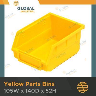 24 x Yellow Plastic Spare Parts Bins Storage Containers SO0202