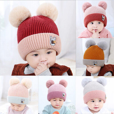 Newborn Toddler Girls Boys Baby Infant Winter Warm Crochet Knit Hat Beanie Cap P