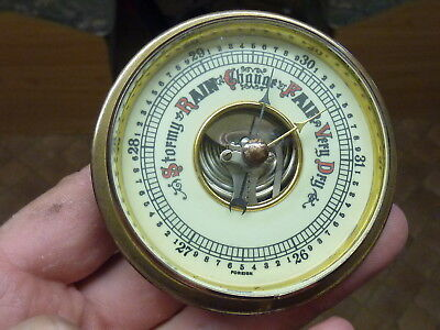 Nice Old Aneroid Barometer Insert Movement Etc - Working Fine (M)