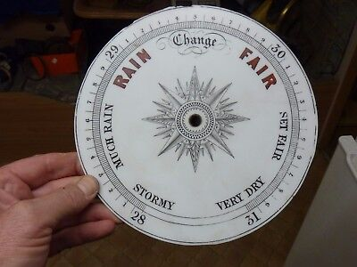 "Good Old Aneroid Barometer 8"" Milk Glass Dial (Cr)"