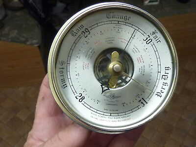 Nice Old Aneroid Barometer Insert Movement Etc - Working Fine (N)